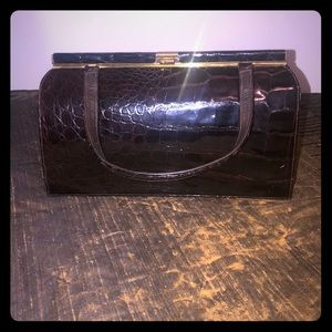 Vintage Bellestone Alligator mocha brown bag